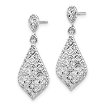 14K White Gold Dangle Earrings