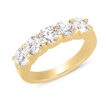 Diamond Ring Five Stone Band