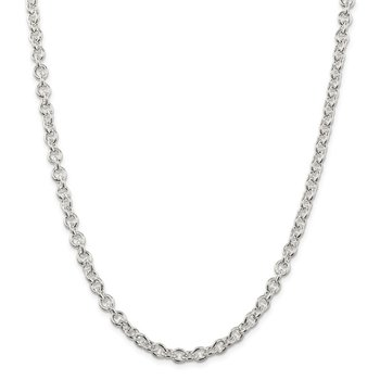 Sterling Silver 6.1mm Cable Chain