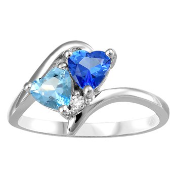 Honey Swirl: Swarovski Gemstone (Genuine Topaz) Ring