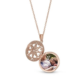 Helen Locket Necklace Rose Gold