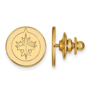 Gold-Plated Sterling Silver Winnipeg Jets NHL Lapel Pin
