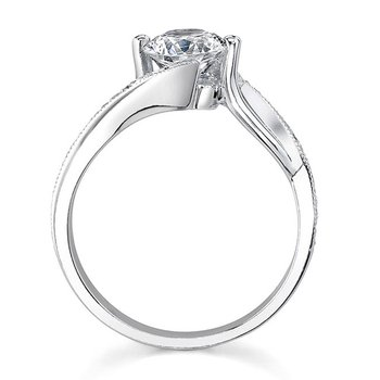 White Gold Engagement Ring - 7605L
