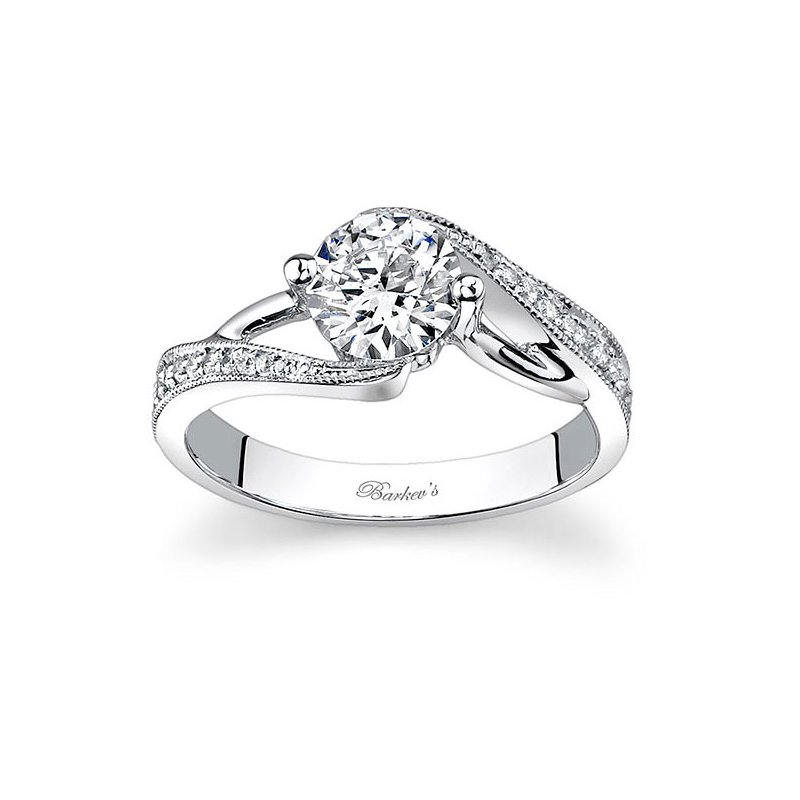 Barkev's White Gold Engagement Ring - 7605L