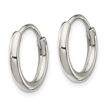 Stainless Steel Polished 2mm Endless Hoop Earrings
