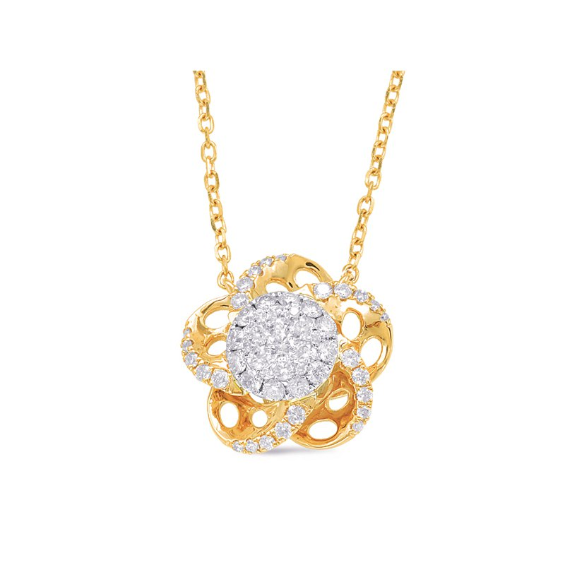 Briana Yellow & White Gold Diamond Necklace