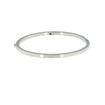 #26020 Of 18Kt White Oro Classic Oval Bangle