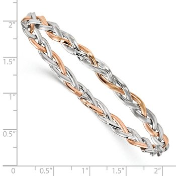Leslie's 10K Two-tone Braided Bangle
