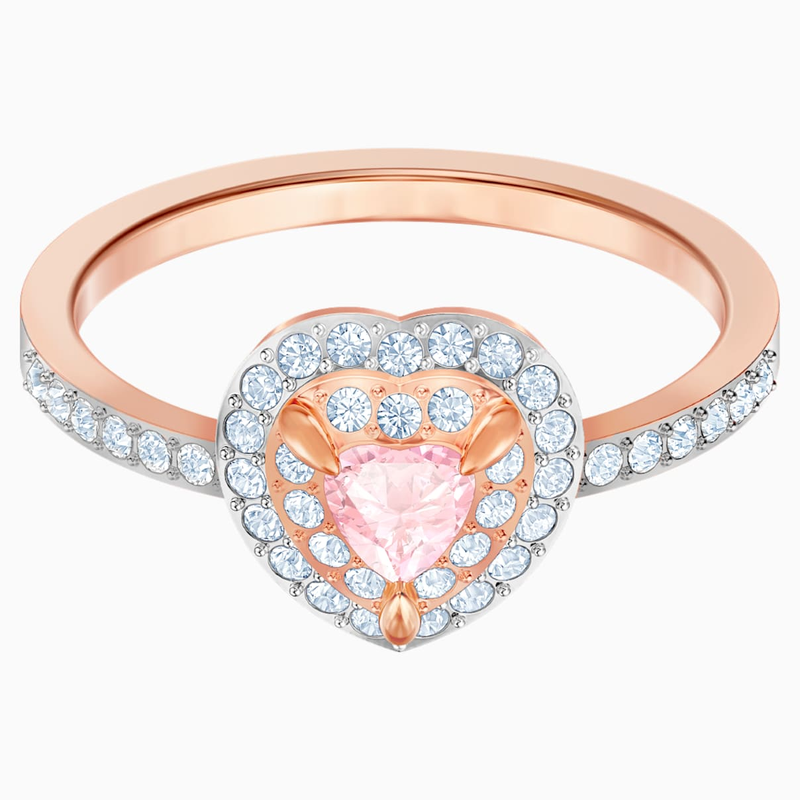 Swarovski One Ring, Multi-colored, Rose-gold tone plated