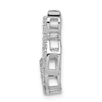 14k White Gold 3/8ct. Diamond Om Symbol Chain Slide