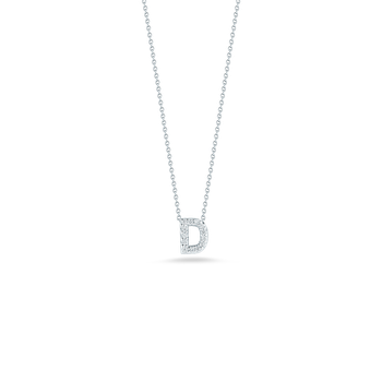 18KT GOLD LOVE LETTER D PENDANT WITH DIAMONDS
