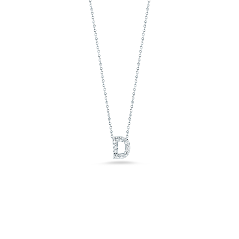 Roberto Coin 18Kt Gold Love Letter D Pendant With Diamonds