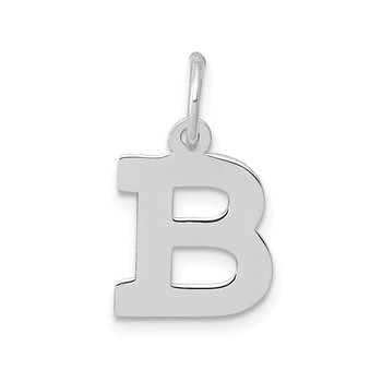 14KW Small Block Letter B Initial Charm