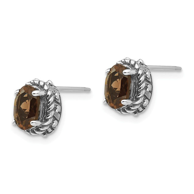 Shey Couture Sterling Silver Smoky Quartz Earrings