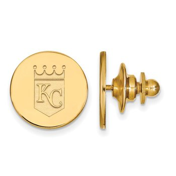 Gold-Plated Sterling Silver Kansas City Royals MLB Lapel Pin