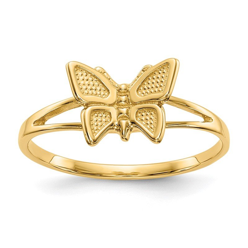 Quality Gold 14k Children's Butterfly Ring