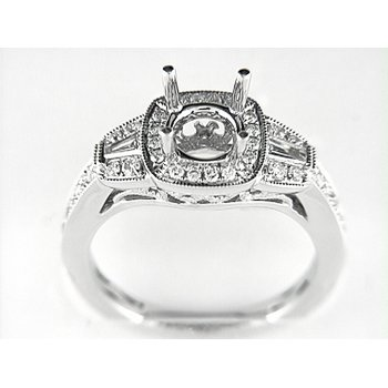 14K W RING 34RD 0.36CT 2BG 0.17CT