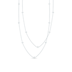 Roberto Coin 18KT GOLD NECKLACE WITH 15 DIAMOND STATIONS