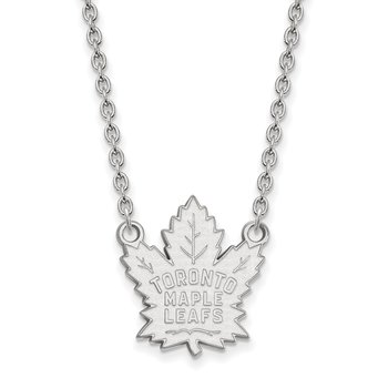 Sterling Silver Toronto Maple Leafs NHL Necklace