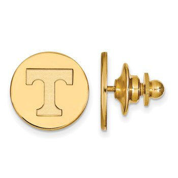 Gold-Plated Sterling Silver University of Tennessee NCAA Lapel Pin