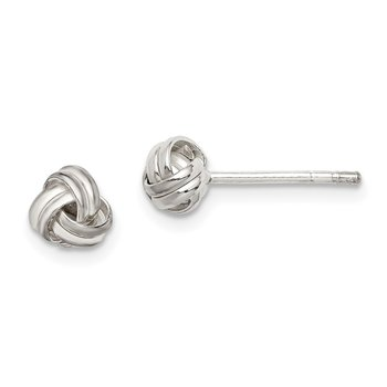 Sterling Silver Knot Post Earrings
