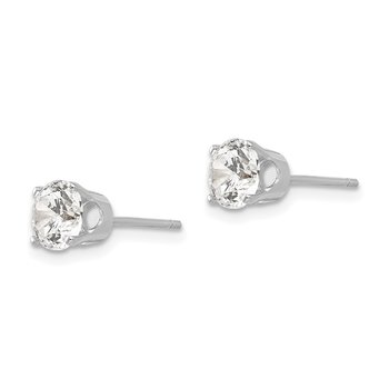 14k White Gold 5.5mm CZ stud earrings