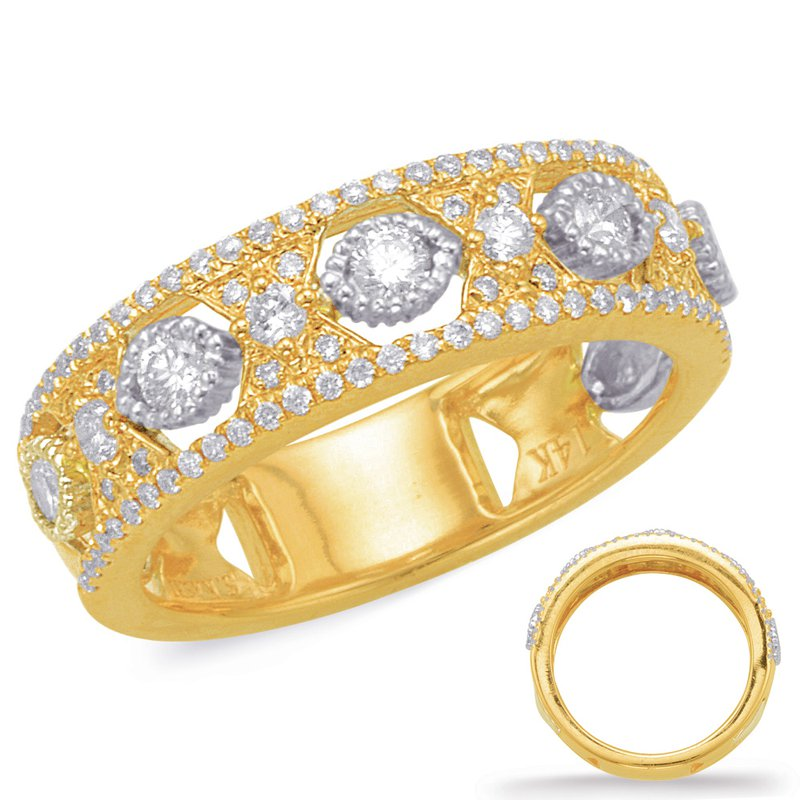 S. Kashi  & Sons Yellow & White Diamond Fashion Ring