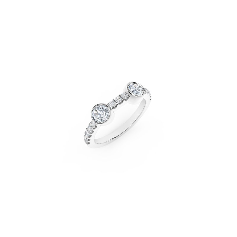 Forevermark Diamonds The Forevermark Tribute™ Collection Two Stone Diamond Ring