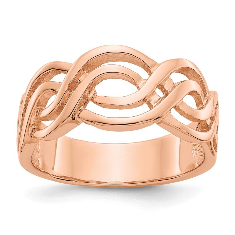 Quality Gold 14k Rose Gold Infinity Ring