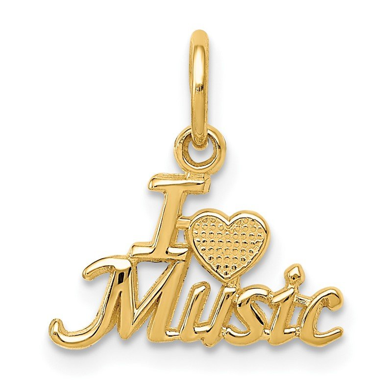 Quality Gold 14K I HEART MUSIC Charm