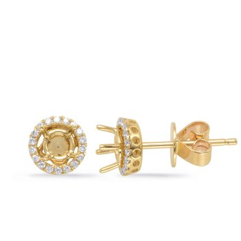 Four Prong Earring Jackets For .60ct TW