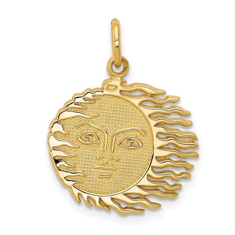 Quality Gold 14k Flaming Sun Charm