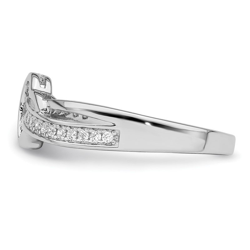 Lester Martin Online Collection Sterling Silver Brilliant Embers Rhodium-plated CZ Heart Ring