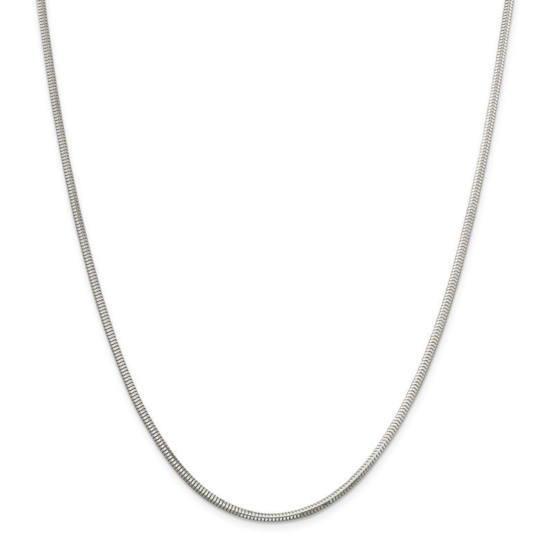 Quality Gold Sterling Silver 2.5mm Diamond-cut Snake Chain