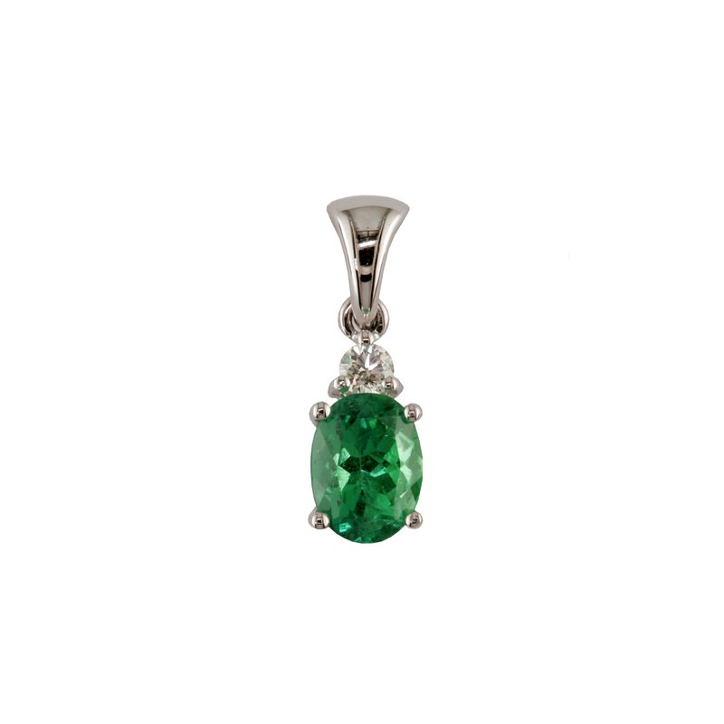 Eichhorn Emerald an Diamond Pendant