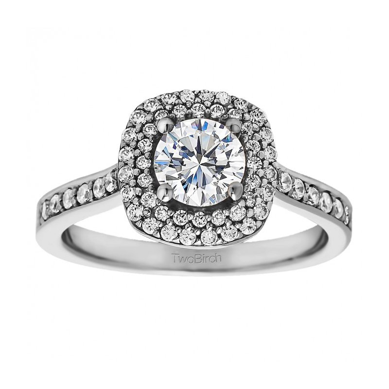 True Romance Round Cut Vintage Engagement Ring