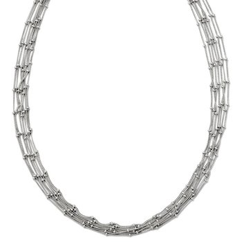 Leslie's Sterling Silver Seven Strand Beaded Necklace