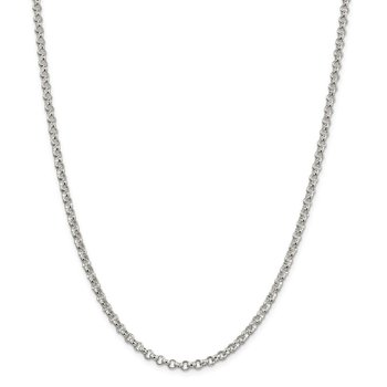 Sterling Silver 4mm Rolo Chain