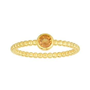 14K Gold Popcorn Gemstone Ring