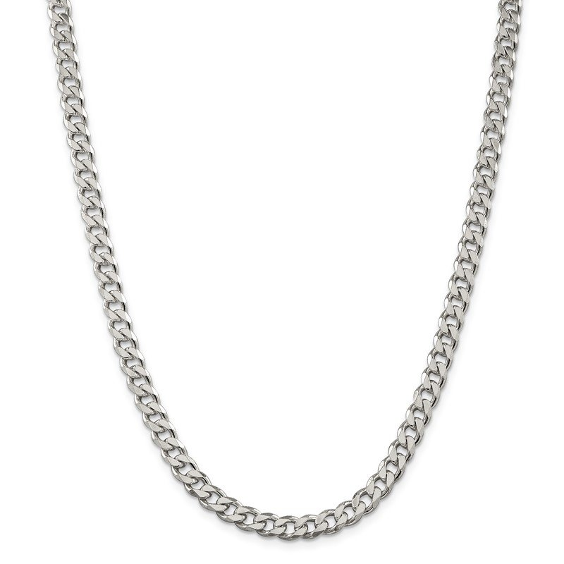 Quality Gold Sterling Silver 7mm Curb Chain