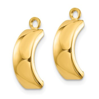 14k Polished Earring Jackets