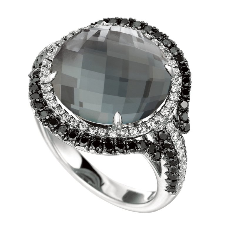 MAZZARESE Couture Haute Hematite Fashion Ring