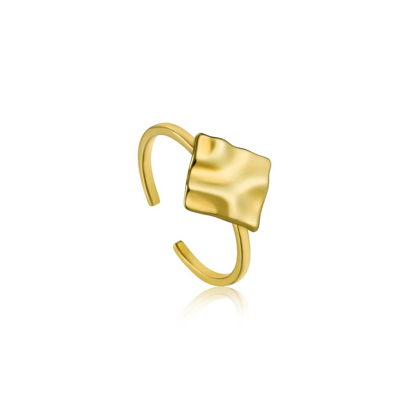 Ania Haie CRUSH SQUARE ADJUSTABLE RING
