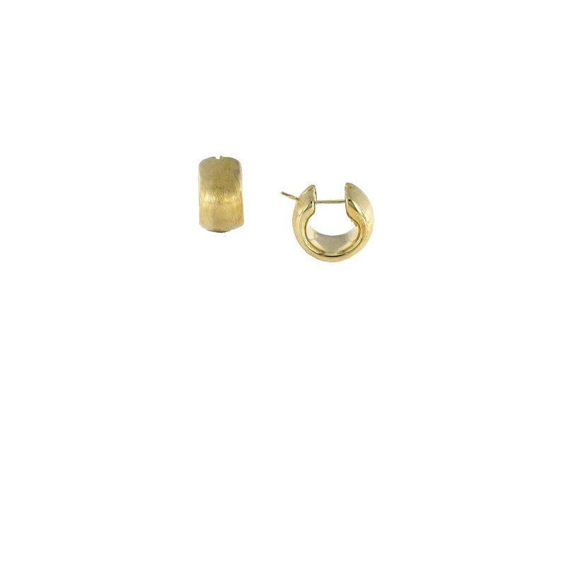 Roberto Coin 18Kt Gold Satin Finished Huggies