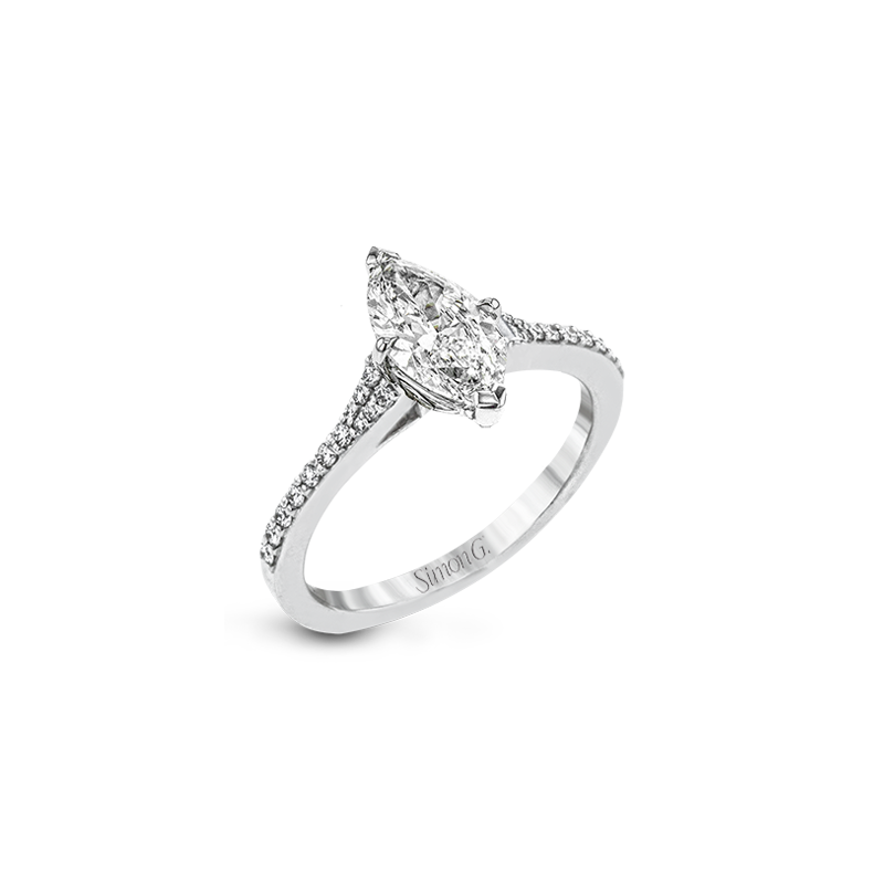 Simon G LR2507-MQ ENGAGEMENT RING