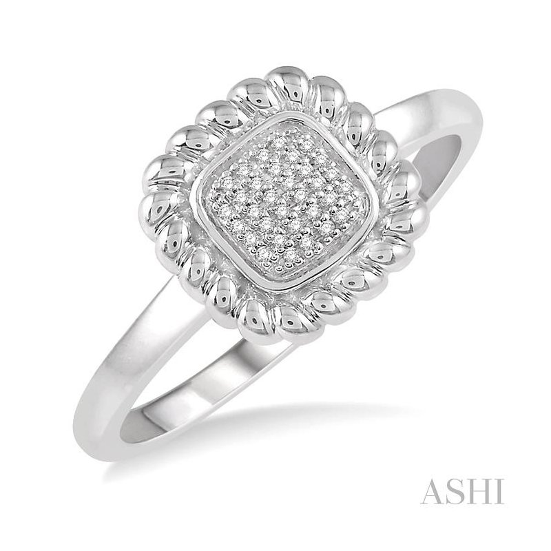 ASHI diamond square ring