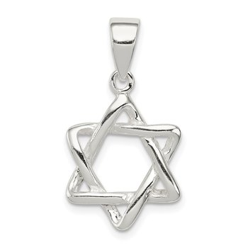 Sterling Silver 3-D Star of David Pendant