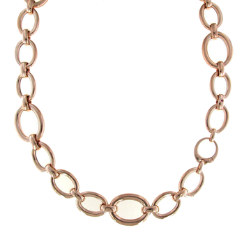 18KT GOLD LONG OVAL LINK NECKLACE
