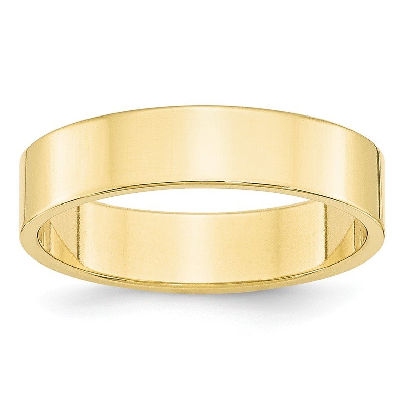Quality Gold 10KY 5mm LTW Flat Band Size 10