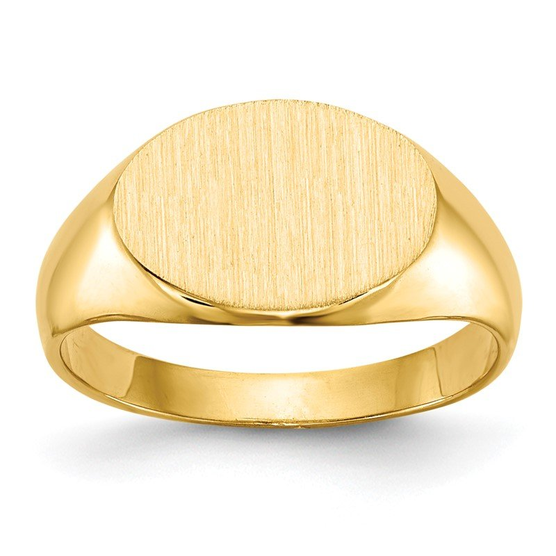 Quality Gold 14k 11.0x7.5mm Closed Back Child's Signet Ring